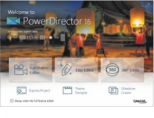 Test Cyberlink PowerDirector 15 Ultimate