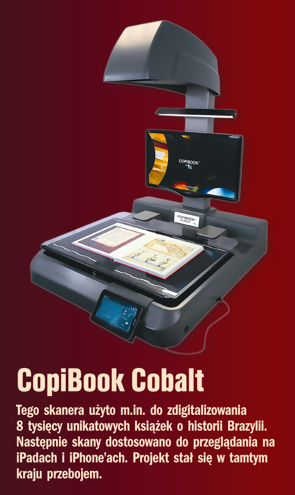 Skanera CopiBook Cobalt użyto m.in. do zdigitalizowania 8 tysięcy unikatowych książek o historii Brazylii