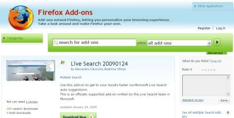 Windows Live Search w Firefoksie