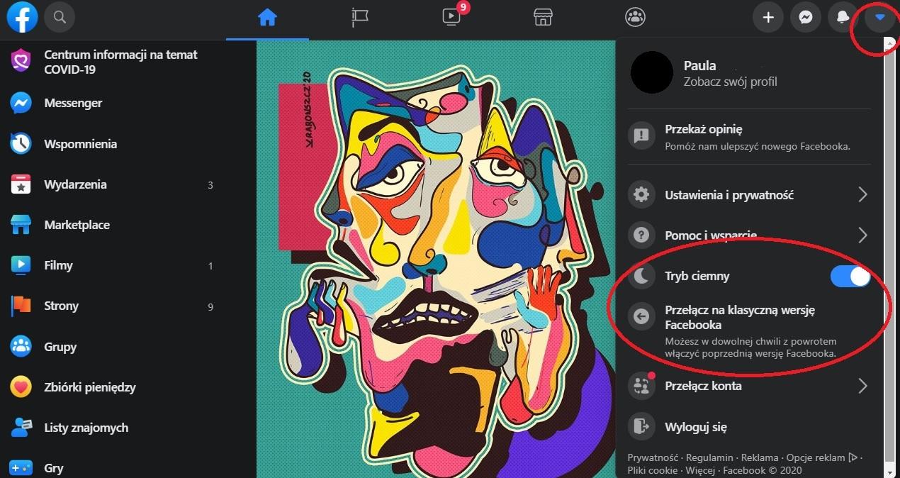 Jak ustawić nowy wygląd Facebooka?