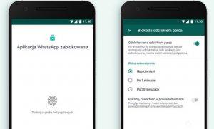 WhatsApp z opcją blokady odciskiem palca