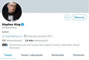 Stephen King znika z Facebooka