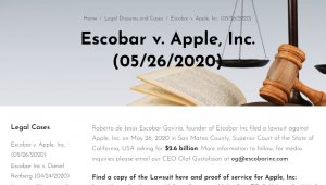 Brat Pablo Escobara pozwał Apple'a na 2,6 mld dolarów